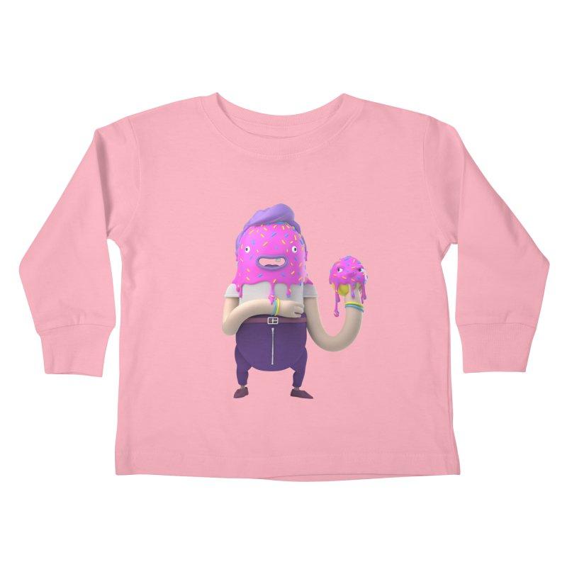 Hoola Bob Kids Toddler Longsleeve T-Shirt by bard's Artist Shop