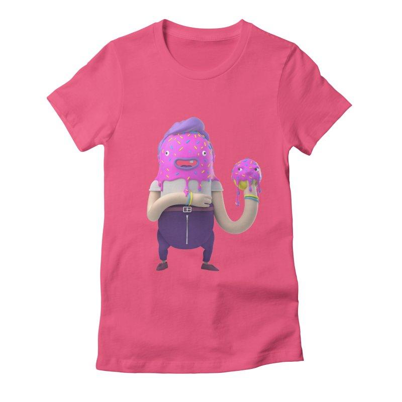 Hoola Bob Women's Fitted T-Shirt by bard's Artist Shop