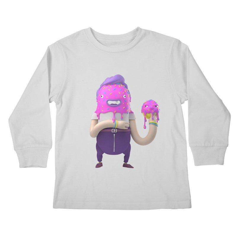 Hoola Bob Kids Longsleeve T-Shirt by bard's Artist Shop