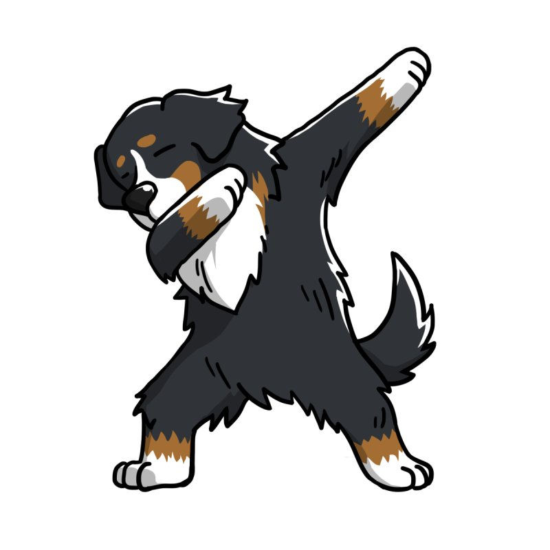 Barktrends Funny Bernese Mountain Dog Dabbing Home Blanket