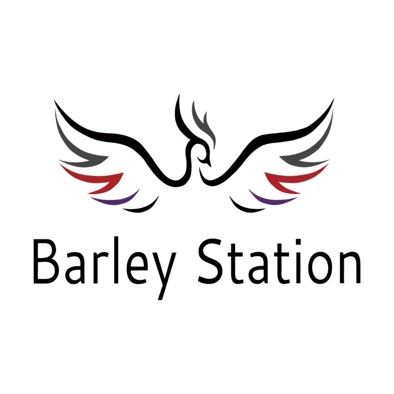 The Official Barley Station Logo (White BG) by The Barley Station Store