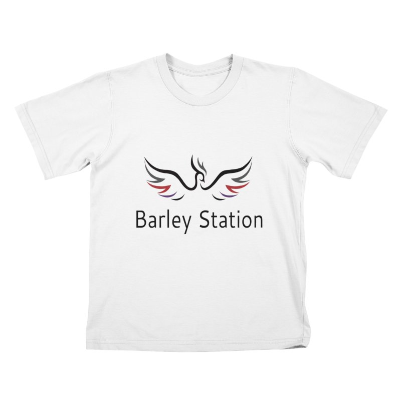 The Official Barley Station Logo (White BG) Kids T-Shirt by The Barley Station Store