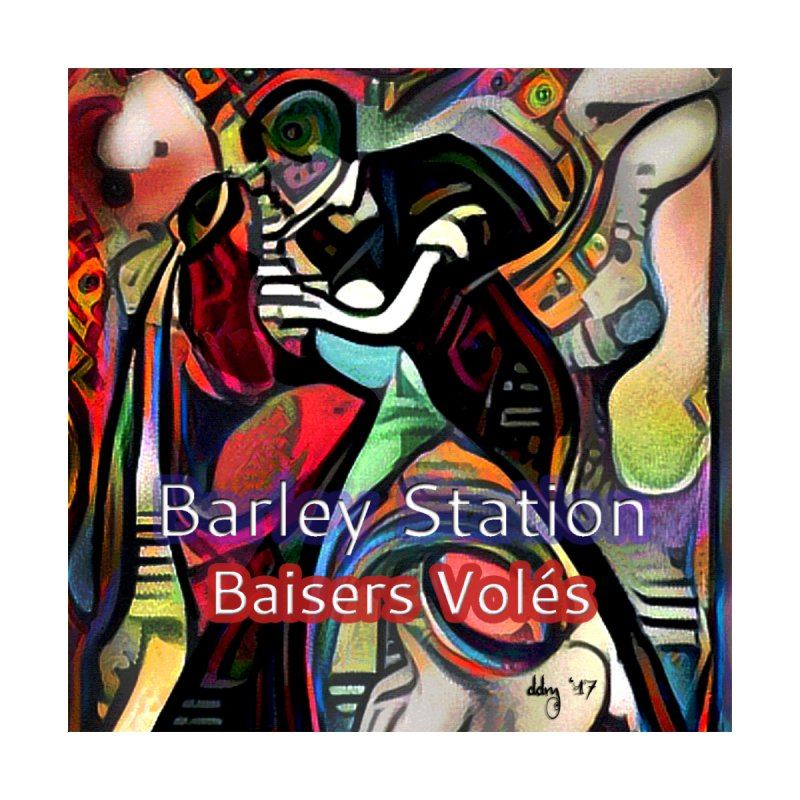 Baisers Volés Design Men's T-Shirt by The Barley Station Store