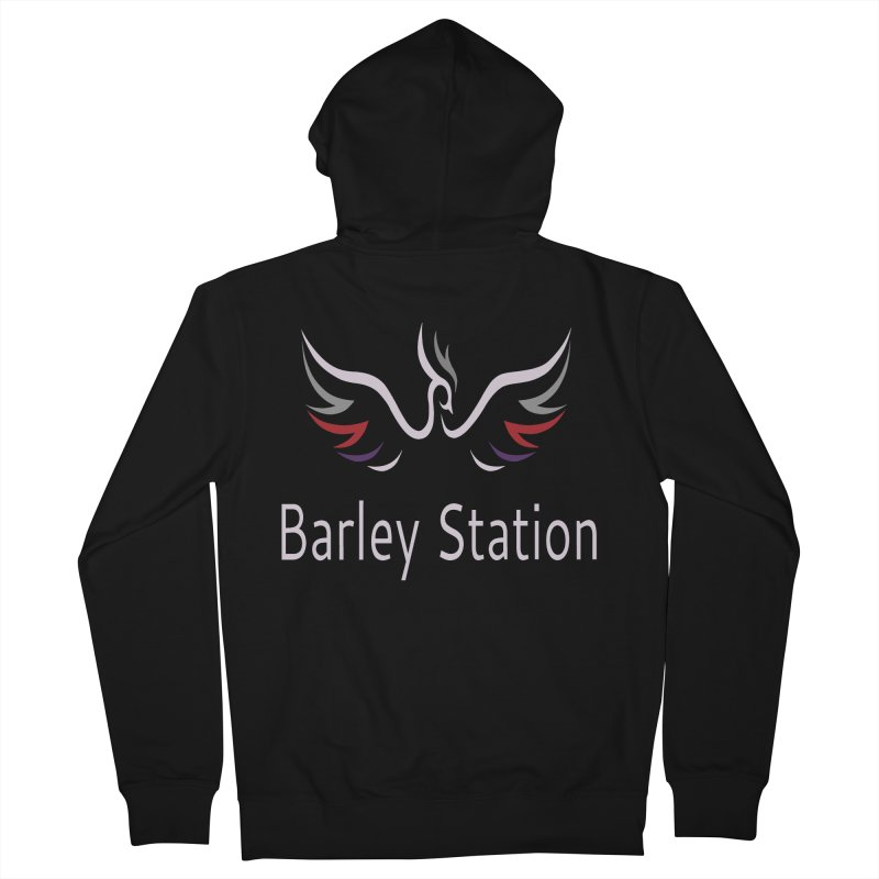 Barley Station Logo Women's French Terry Zip-Up Hoody by The Barley Station Store