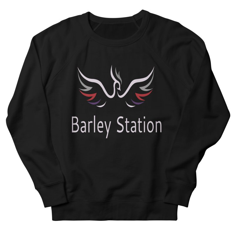 Barley Station Logo Men's French Terry Sweatshirt by The Barley Station Store