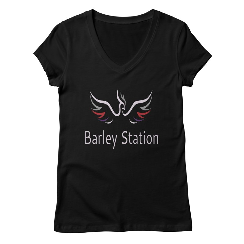 Barley Station Logo Women's Regular V-Neck by The Barley Station Store