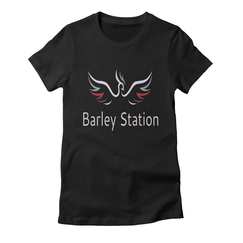 Barley Station Logo Women's Fitted T-Shirt by The Barley Station Store
