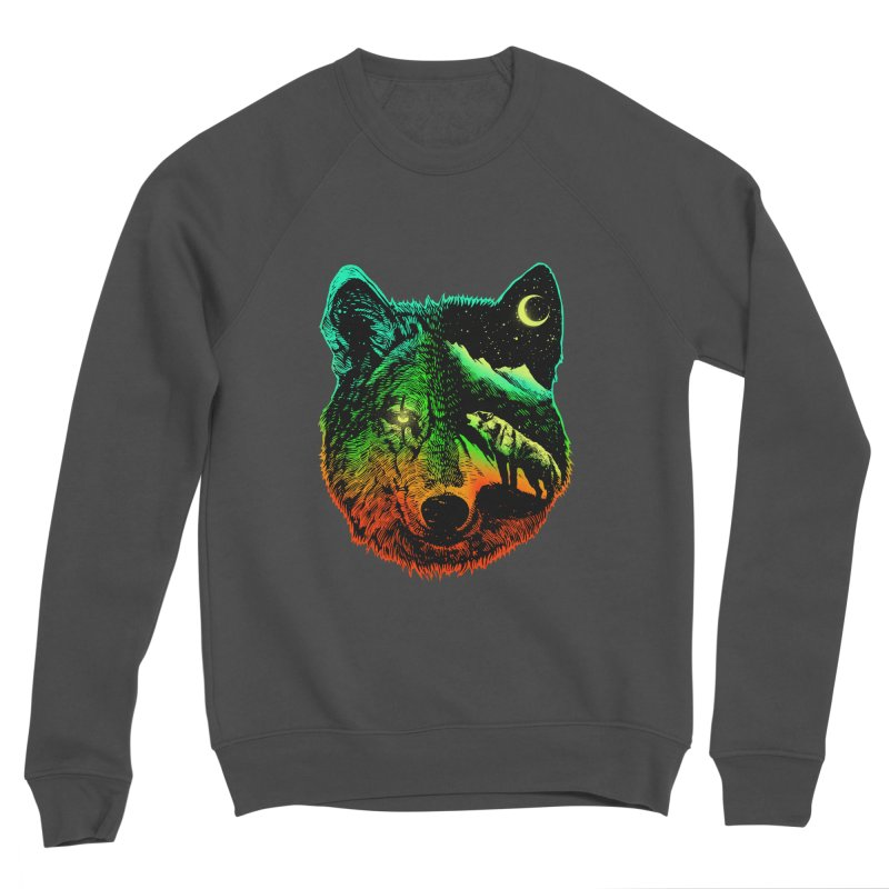 Nightwolf light Men's Sponge Fleece Sweatshirt by barmalisiRTB