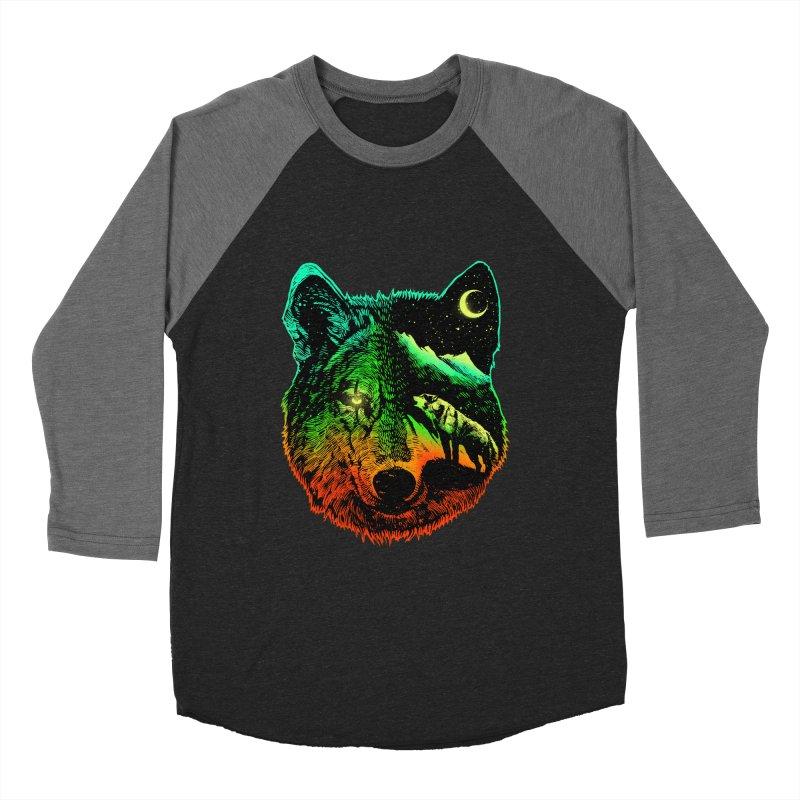 Nightwolf light Men's Baseball Triblend Longsleeve T-Shirt by barmalisiRTB