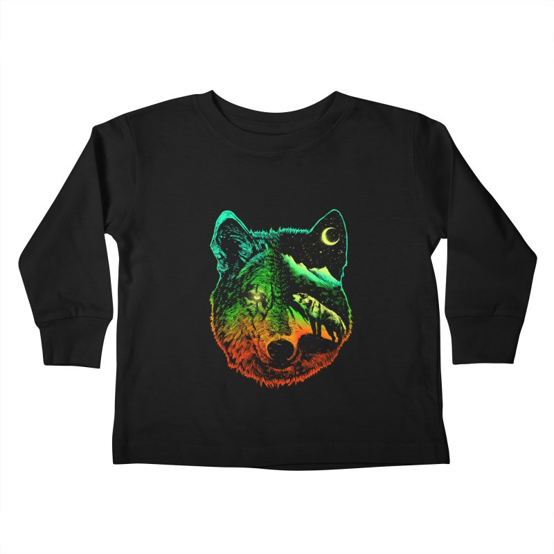 Nightwolf light Kids Toddler Longsleeve T-Shirt by barmalisiRTB
