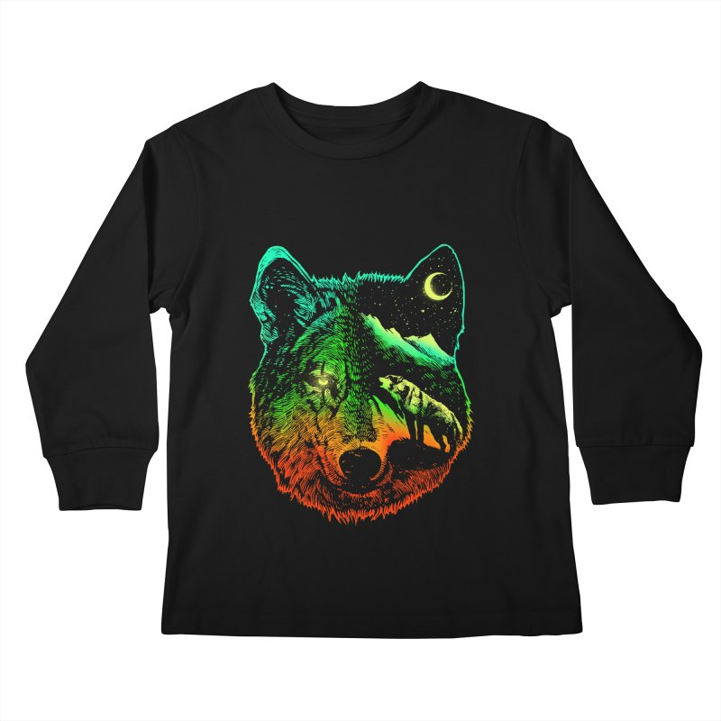 Nightwolf light Kids Longsleeve T-Shirt by barmalisiRTB