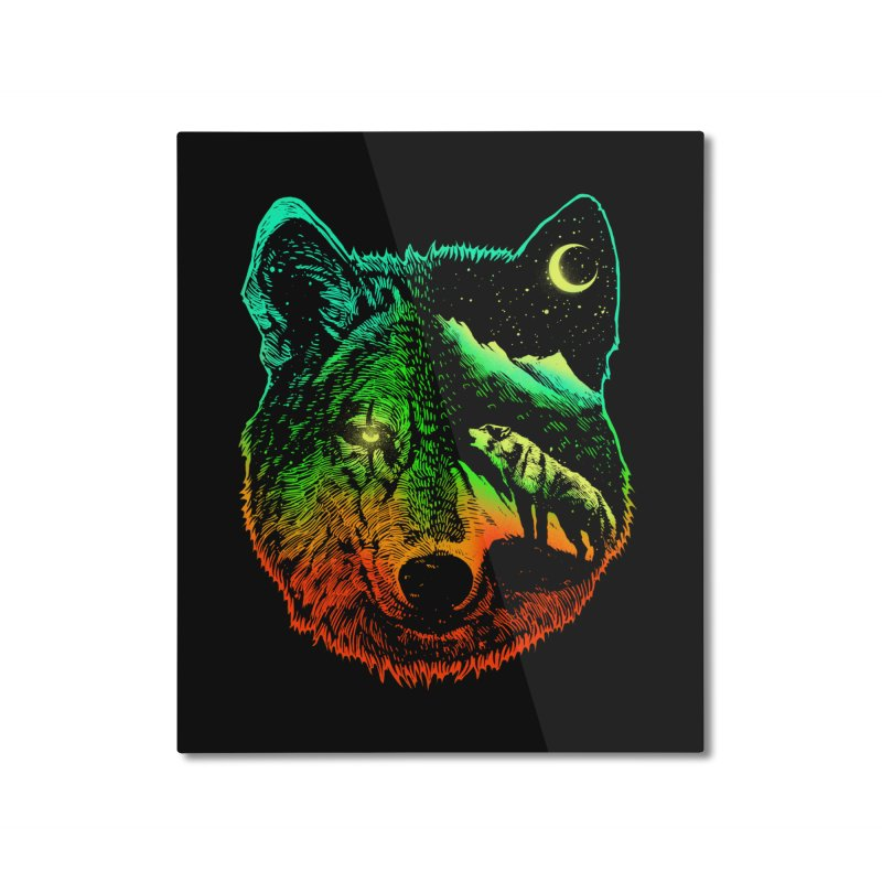 Nightwolf light Home Mounted Aluminum Print by barmalisiRTB