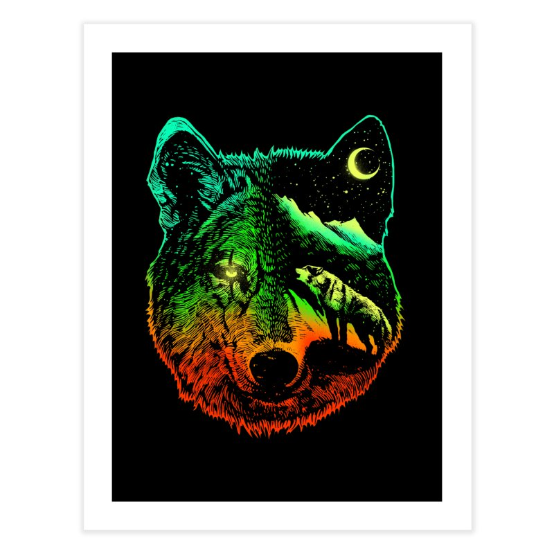 Nightwolf light Home Fine Art Print by barmalisiRTB