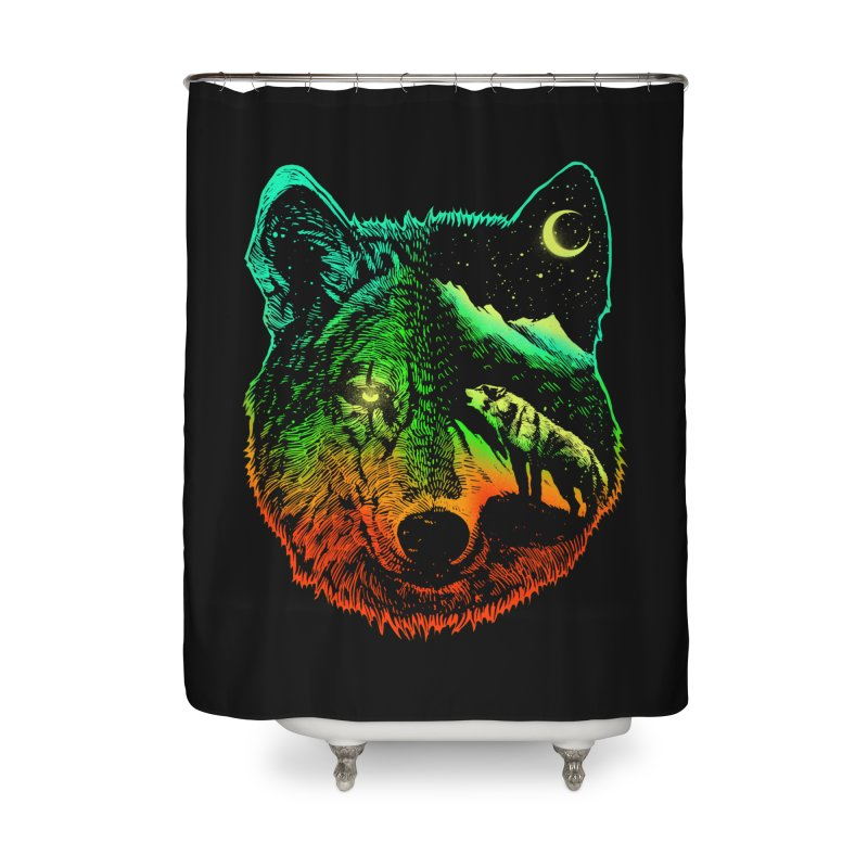 Nightwolf light Home Shower Curtain by barmalisiRTB
