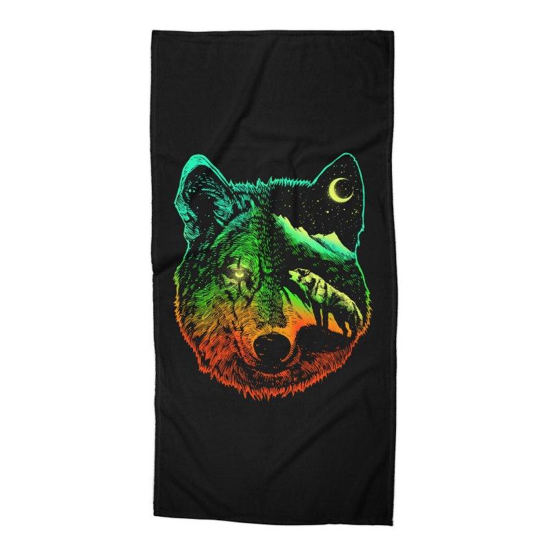 Nightwolf light Accessories Beach Towel by barmalisiRTB