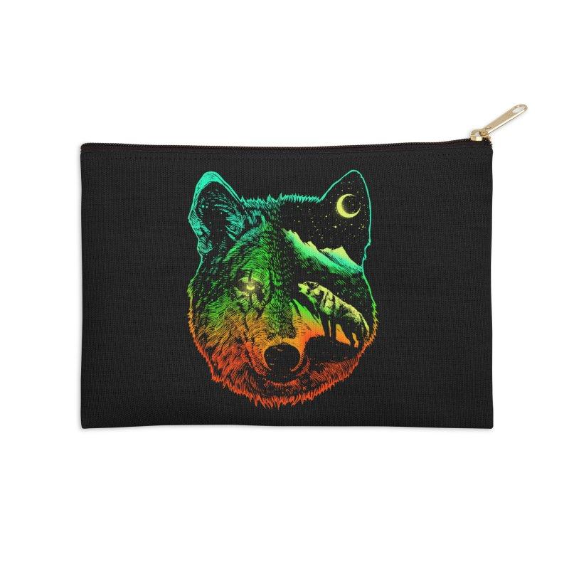 Nightwolf light Accessories Zip Pouch by barmalisiRTB