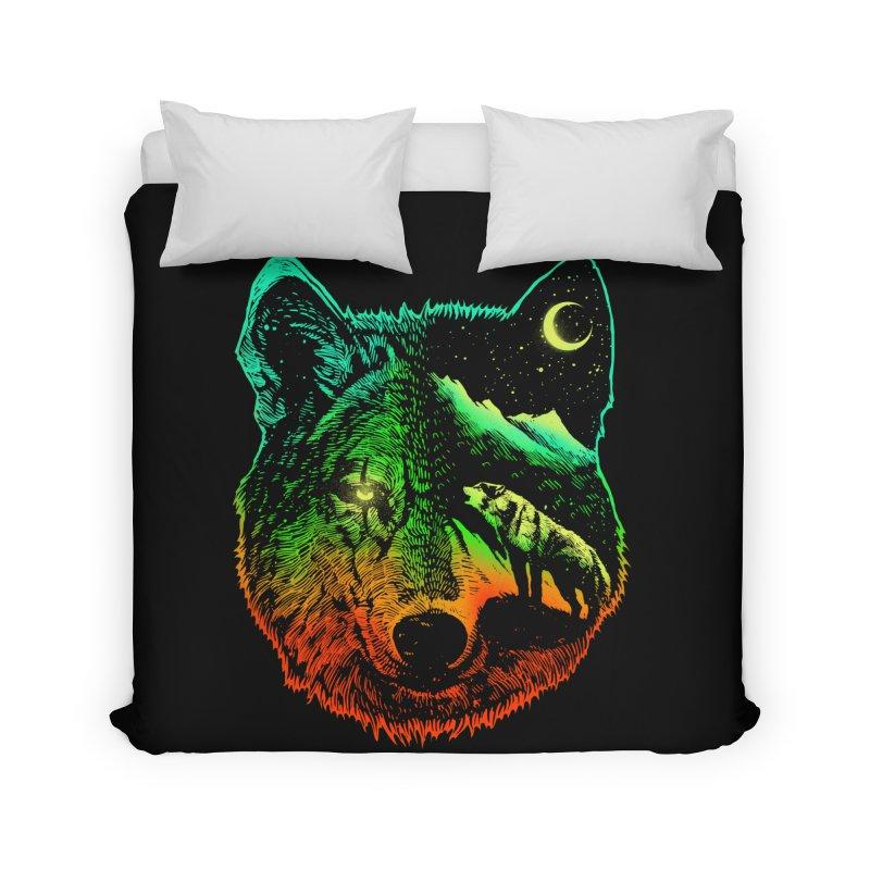 Nightwolf light Home Duvet by barmalisiRTB