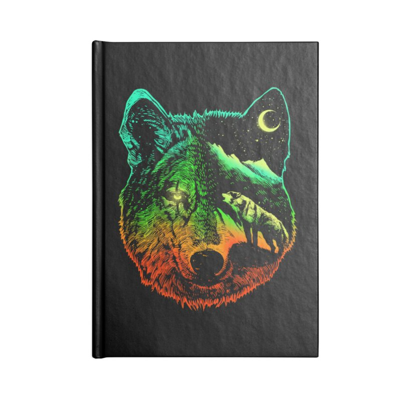 Nightwolf light Accessories Blank Journal Notebook by barmalisiRTB