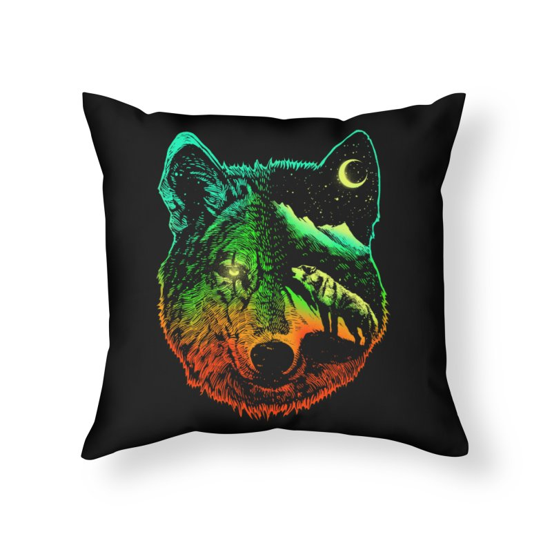 Nightwolf light Home Throw Pillow by barmalisiRTB