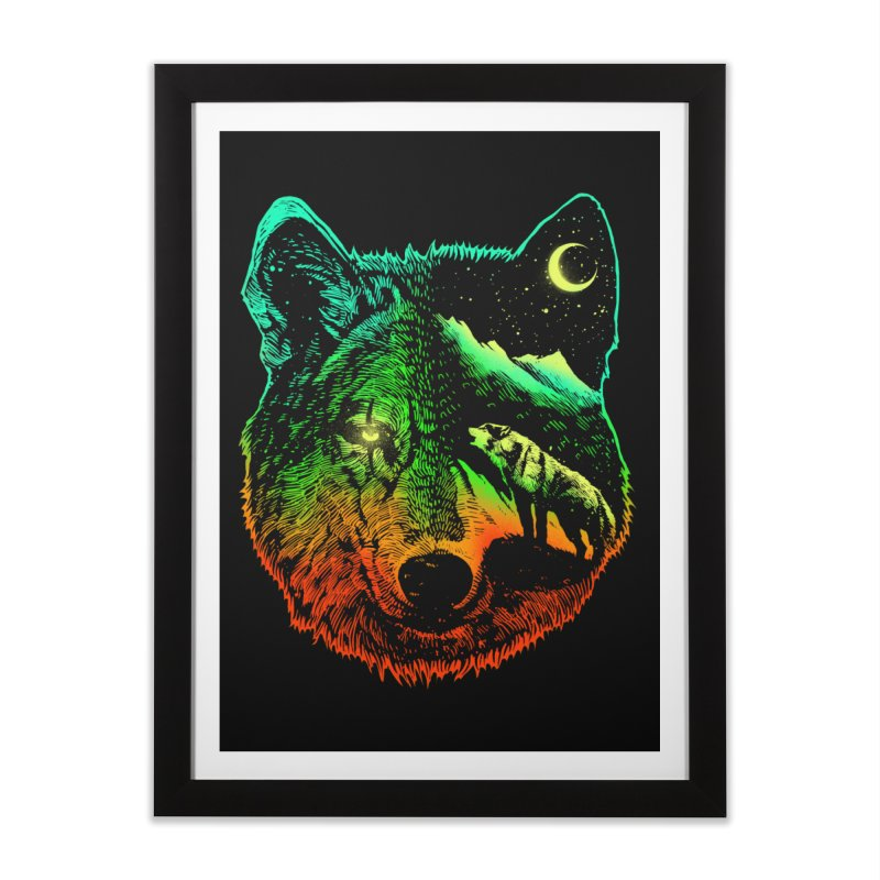 Nightwolf light Home Framed Fine Art Print by barmalisiRTB