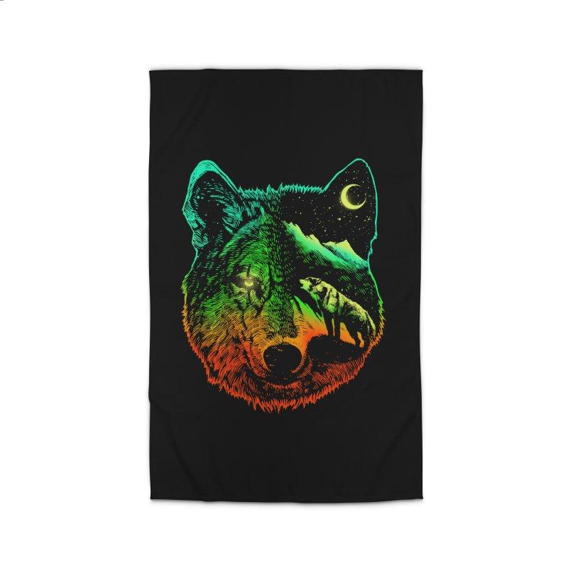 Nightwolf light Home Rug by barmalisiRTB