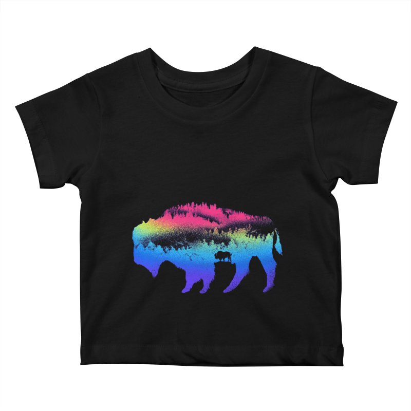 Bison nature Kids Baby T-Shirt by barmalisiRTB
