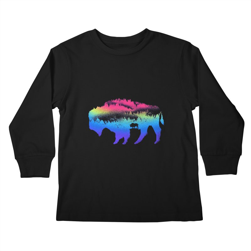 Bison nature Kids Longsleeve T-Shirt by barmalisiRTB