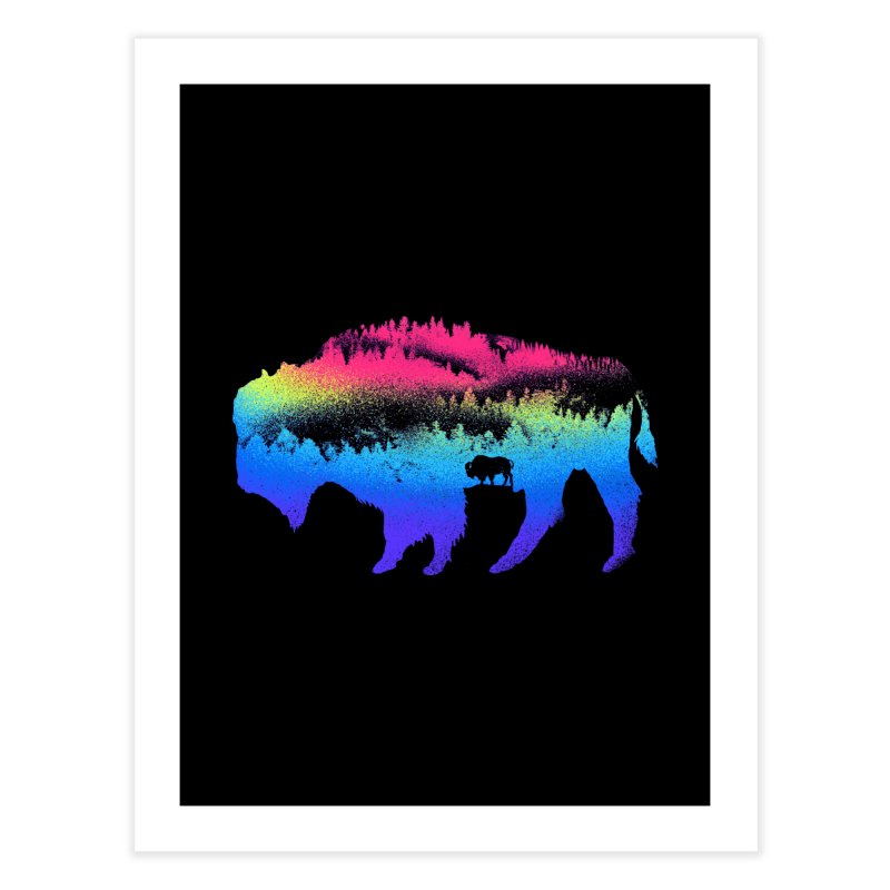 Bison nature Home Fine Art Print by barmalisiRTB