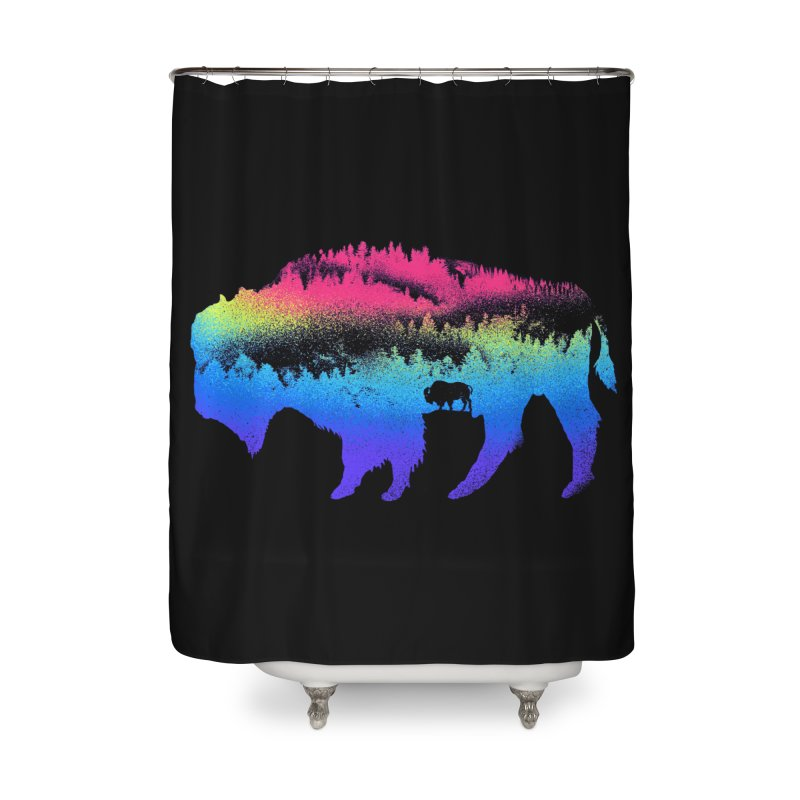 Bison nature Home Shower Curtain by barmalisiRTB