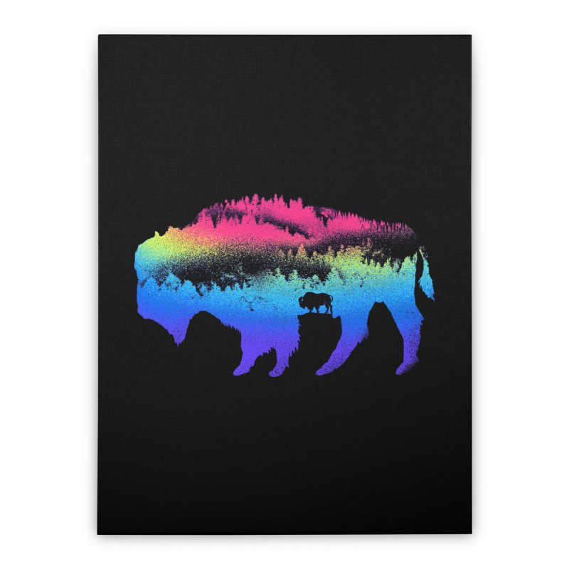 Bison nature Home Stretched Canvas by barmalisiRTB