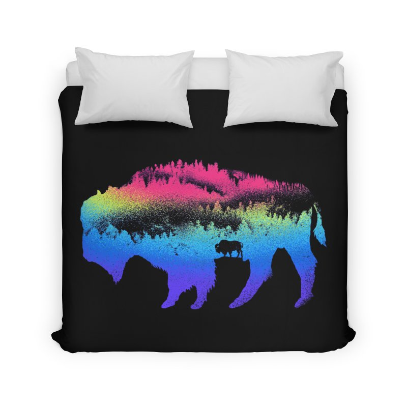 Bison nature Home Duvet by barmalisiRTB
