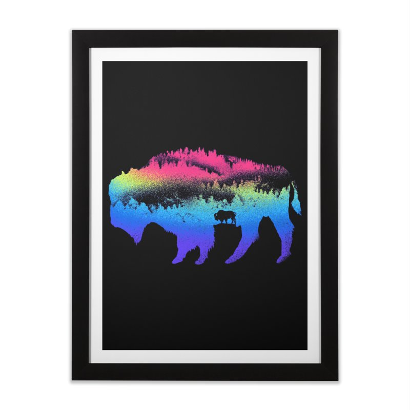Bison nature Home Framed Fine Art Print by barmalisiRTB