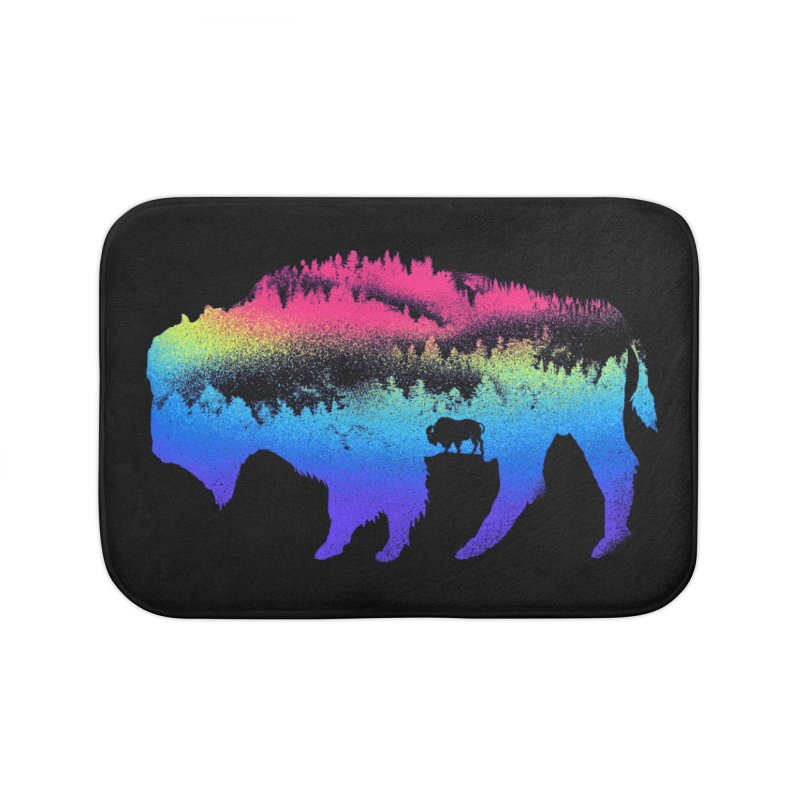 Bison nature Home Bath Mat by barmalisiRTB