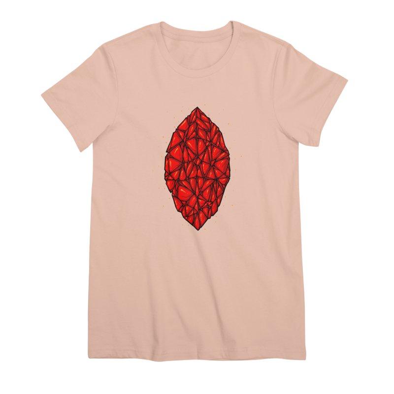Red diamond Women's Premium T-Shirt by barmalisiRTB
