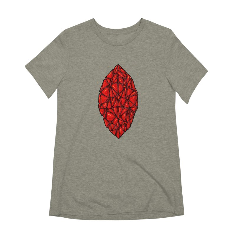 Red diamond Women's Extra Soft T-Shirt by barmalisiRTB