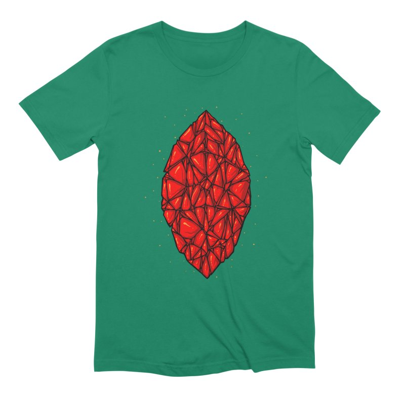 Red diamond Men's Extra Soft T-Shirt by barmalisiRTB