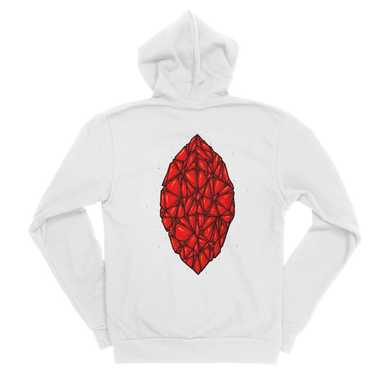 Red diamond Women's Sponge Fleece Zip-Up Hoody by barmalisiRTB