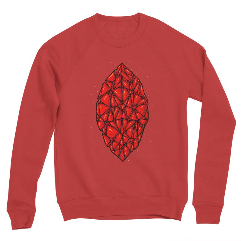 Red diamond Men's Sponge Fleece Sweatshirt by barmalisiRTB