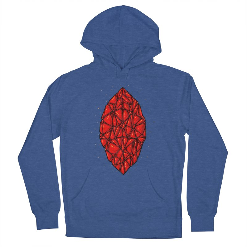 Red diamond Men's French Terry Pullover Hoody by barmalisiRTB