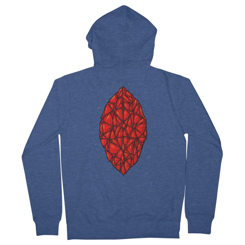 Red diamond Men's French Terry Zip-Up Hoody by barmalisiRTB