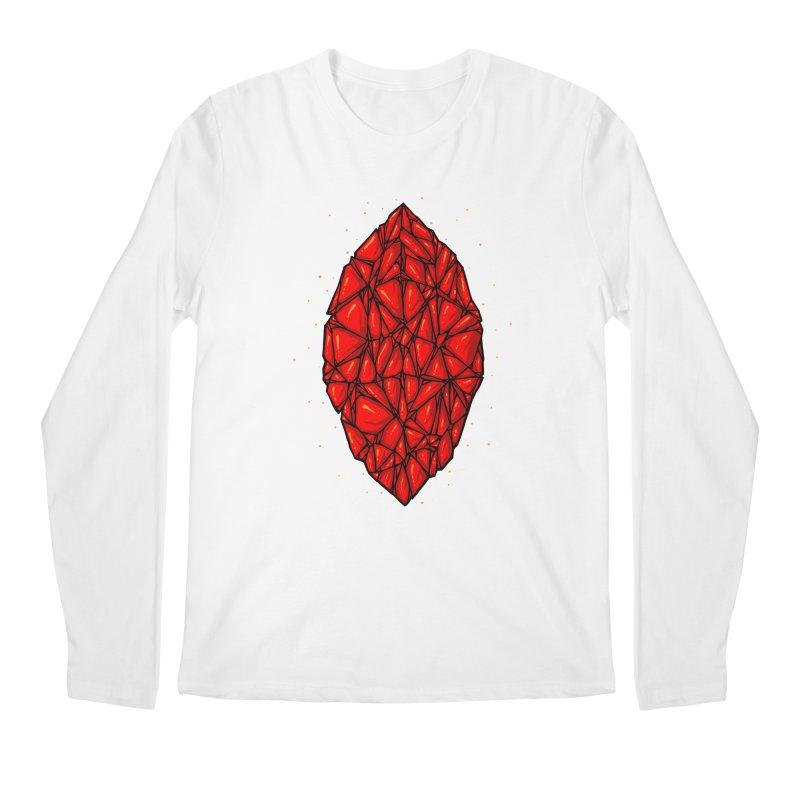Red diamond Men's Regular Longsleeve T-Shirt by barmalisiRTB