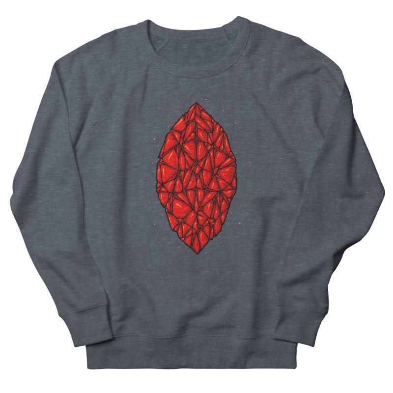 Red diamond Women's French Terry Sweatshirt by barmalisiRTB