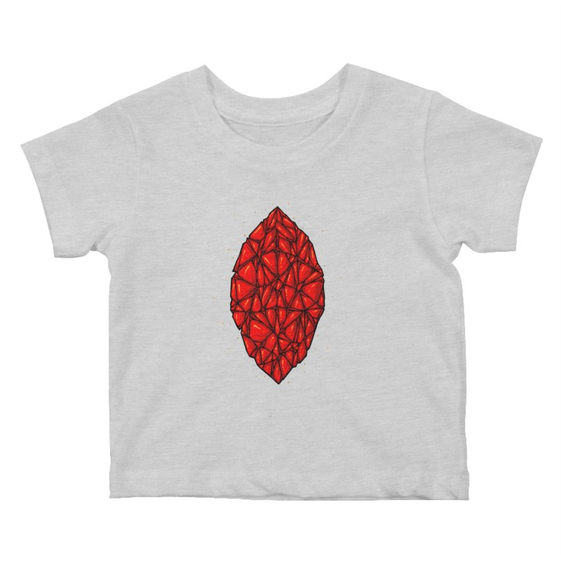 Red diamond Kids Baby T-Shirt by barmalisiRTB