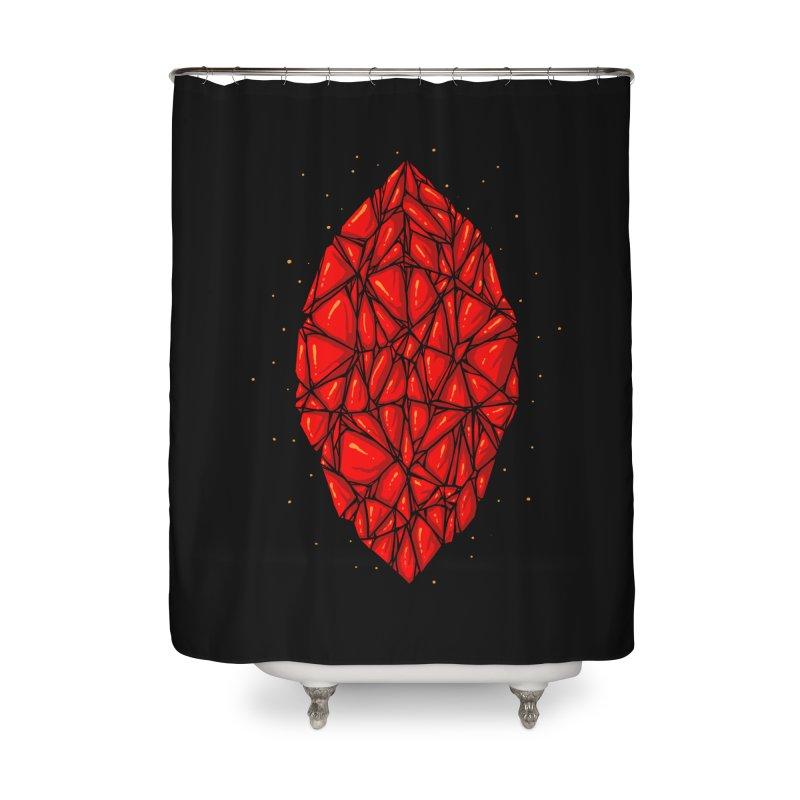 Red diamond Home Shower Curtain by barmalisiRTB