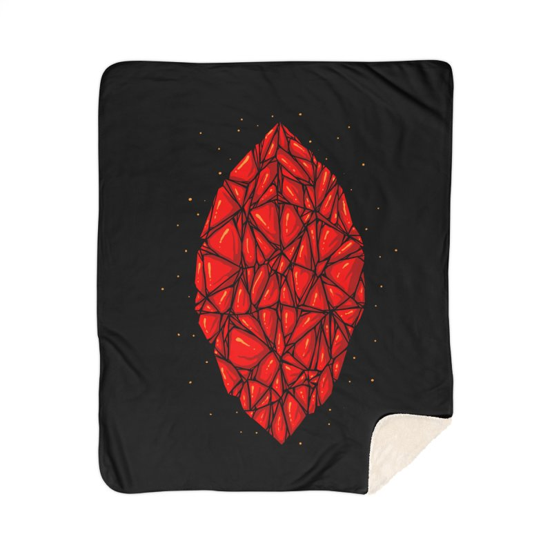 Red diamond Home Sherpa Blanket Blanket by barmalisiRTB