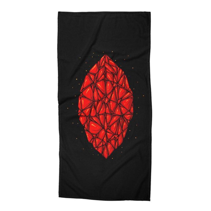 Red diamond Accessories Beach Towel by barmalisiRTB