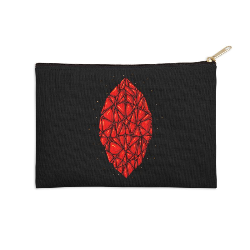 Red diamond Accessories Zip Pouch by barmalisiRTB