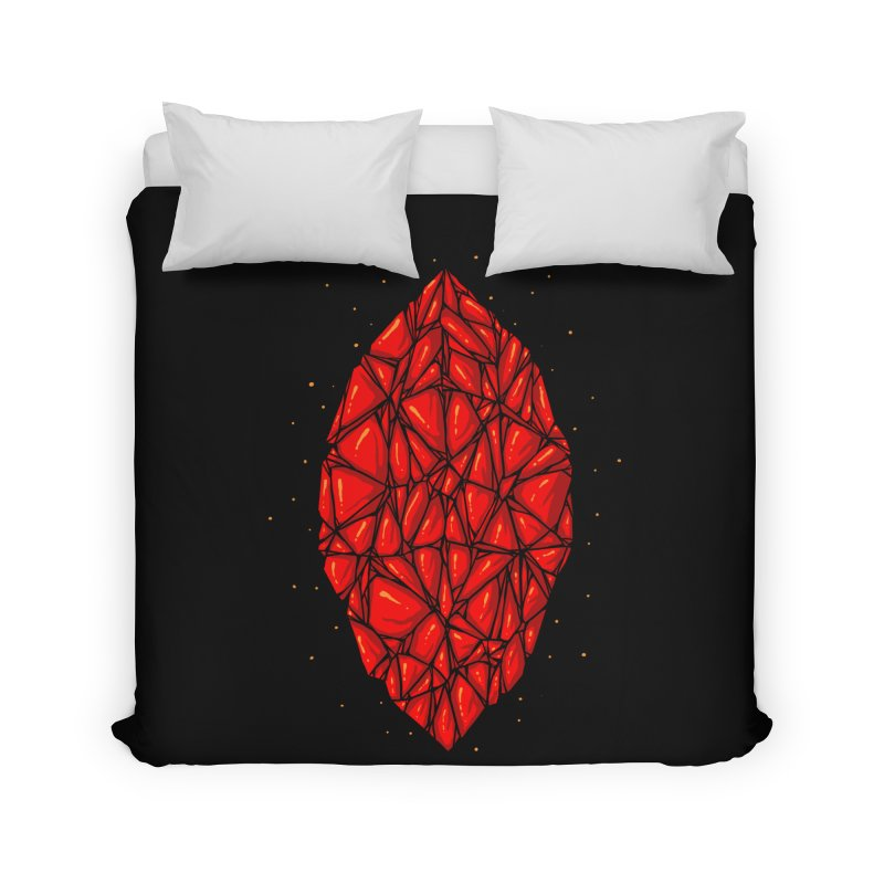 Red diamond Home Duvet by barmalisiRTB