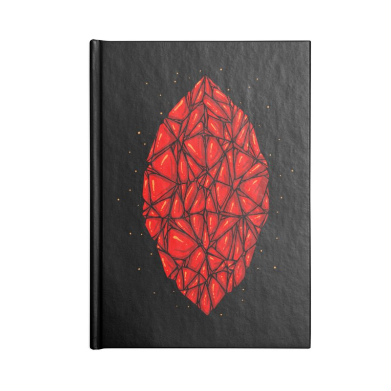 Red diamond Accessories Blank Journal Notebook by barmalisiRTB