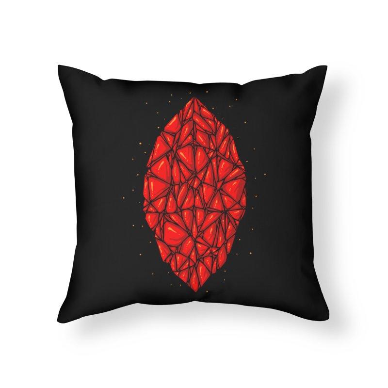 Red diamond Home Throw Pillow by barmalisiRTB